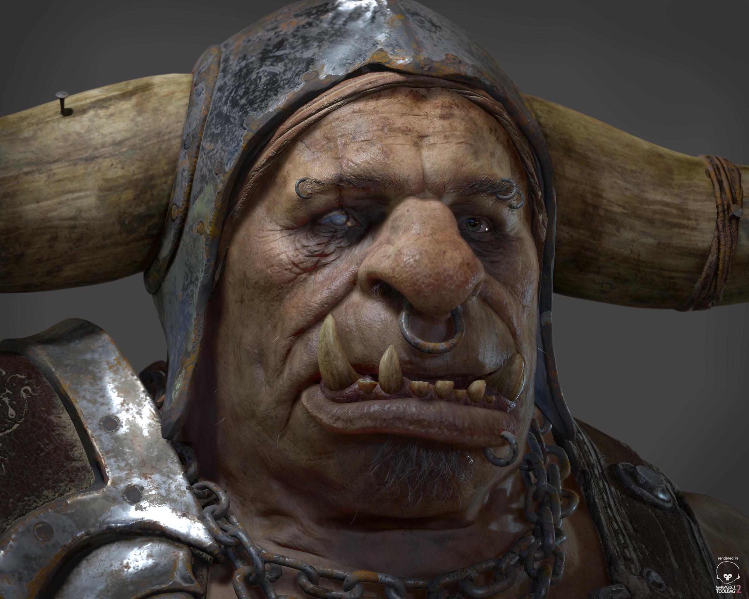 Half Orc Portrait Orc   Glauco Longhi